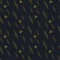 Black yellow seamless background pattern