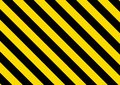 Black and yellow striped background. Vector