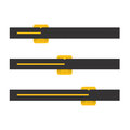Black and yellow vector progress bars illustration Royalty Free Stock Photography