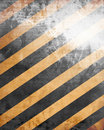Black and yellow warning sign Royalty Free Stock Photography