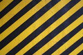 Black and yellow warning stripes background Royalty Free Stock Photography