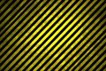 Black and Yellow Warning Stripes Royalty Free Stock Photo