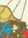 Blackbeard le pirate Image libre de droits