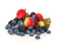 Blackberries, blueberries and stawberries Royalty Free Stock Photo