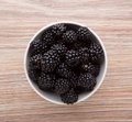 Blackberries in bowl a small china Stock Photography