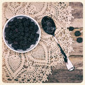 Blackberries instant photo Royalty Free Stock Image
