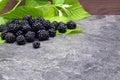 BlackBerry on black background