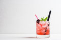 Blackberry cocktail Royalty Free Stock Photo