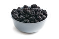 Blackberry fruit in bowl Stock Photography