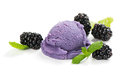 Blackberry ice cream Royalty Free Stock Photo