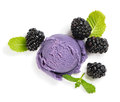 Blackberry ice cream, view from above Royalty Free Stock Photo
