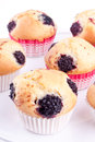 Blackberry muffins Royalty Free Stock Image