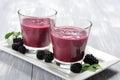 Blackberry smoothie Royalty Free Stock Photo