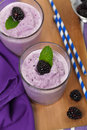 Blackberry Smoothie Royalty Free Stock Photo
