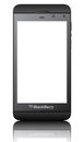 Blackberry z black an illustration of the new smartphone Royalty Free Stock Photos