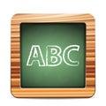 Blackboard ABC Royalty Free Stock Photo