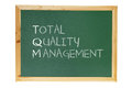 Blackboard with Business Management Message Stock Images