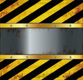 blackboard caution board metal rusty Royalty Free Stock Photo