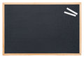 Blackboard with chalk Royalty Free Stock Photo