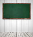 Blackboard in classroom green template Royalty Free Stock Image