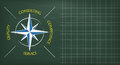 Blackboard Consulting Compass Copyspace Royalty Free Stock Photo