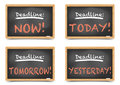 Blackboard Deadlines Royalty Free Stock Images