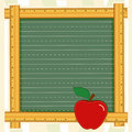 Blackboard Frame, Apple for the Teacher Stock Image