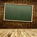 Blackboard in interior Stock Photo
