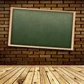 Blackboard in interior Stock Photo