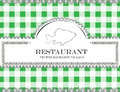 Blackboard lace menu restaurant fish cloth pattern Stock Photography