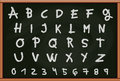 Blackboard with Letters and Numbers