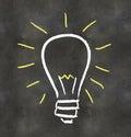 Blackboard Light Bulb Royalty Free Stock Photo