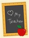 Blackboard love my teacher Стоковые Изображения