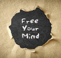 Blackboard with the phrase free your mind Royalty Free Stock Photos