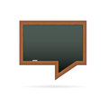 Blackboard in the shape of speech bubble Stock Photo