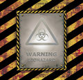 Blackboard sign caution banner warning biohazard Royalty Free Stock Photo