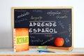 Blackboard In An Spanish Langu...