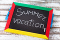 Blackboard with text it's summer time, Royalty Free Stock Photo