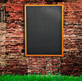 Blackboard on wall Stock Photography