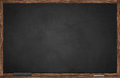 Blackboard wooden frame chalk eraser Royalty Free Stock Photos