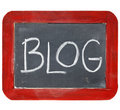 Blackboardblogtecken Royaltyfria Bilder