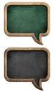 Blackboards or chalkboards set in shape of speech bubble Royalty Free Stock Photo