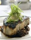 Blackened swordfish steak Stock Photo