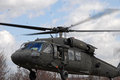 Blackhawk helicopter landing Royalty Free Stock Photography