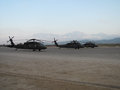 Blackhawk helicopters in Afghanistan Royalty Free Stock Photo