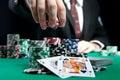 Blackjack in a casino Royalty Free Stock Photo