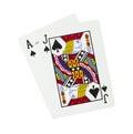 Blackjack playing cards Royalty Free Stock Photo
