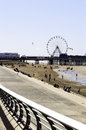 Blackpool central pier and beach Royalty Free Stock Photo