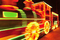 Blackpool illuminations train tram Royalty Free Stock Photo