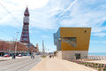 Blackpool queens promenade seaside in england uk with the iconic tower in the background Stock Photography